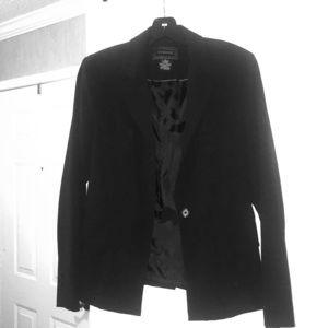 Black one button blazer